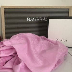 Gucci pink scarf new